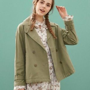 Vintage Double Breasted Olive Green Jacket